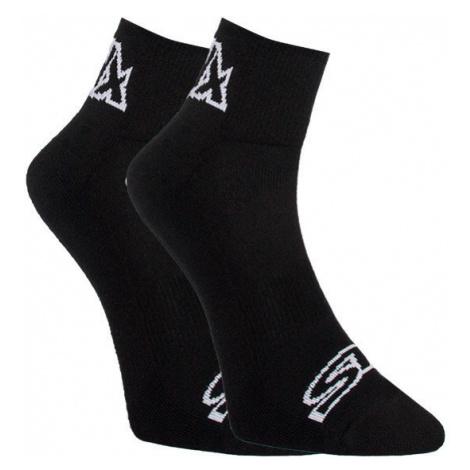 Ponožky Styx kotníkové černé s bílým logem (HK960)