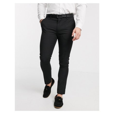 New Look skinny suit trouser in black