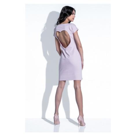 Dámské krátké šaty s výstřihem ve tvaru srdce F398 Fobya