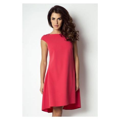 Dámské elegantní asymetrické šaty s krátkým rukávem 184 IVON