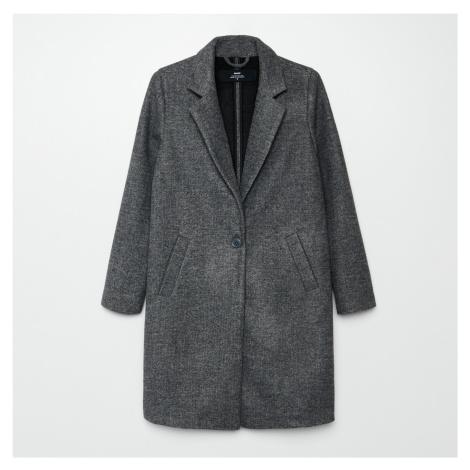 Cropp - Hladký kabát - Šedá