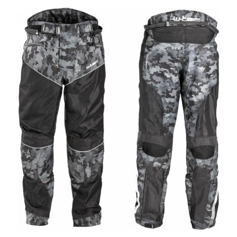 Pánské Letní Moto Kalhoty W-Tec Jori Black-Grey Digi-Camo