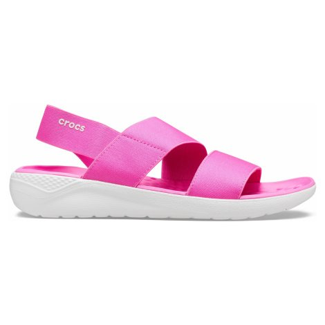 Crocs LiteRide Stretch Sandal W Electric Pink/Almost White W6