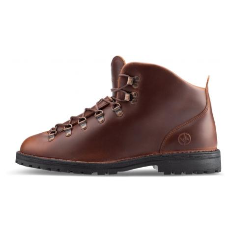 Vasky Highland Dark Brown - Pánské kožené kotníkové turistické boty hnědé, česká výroba