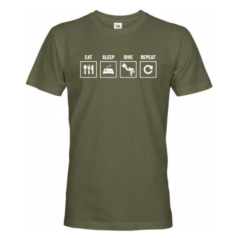 Pánské tričko Eat-sleep-dive-repeat - ideální dárek BezvaTriko