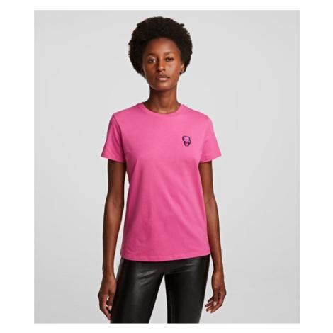 Tričko Karl Lagerfeld Mini Ikonik Karl Patch T-Shirt - Růžová