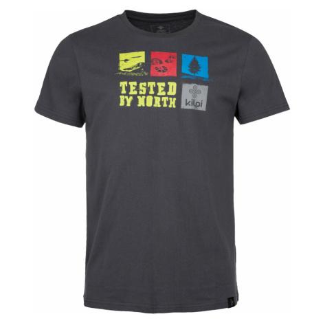 KILPI Pánské bavlněné tričko TOBY-M IM0068KIDGY Tmavě šedá