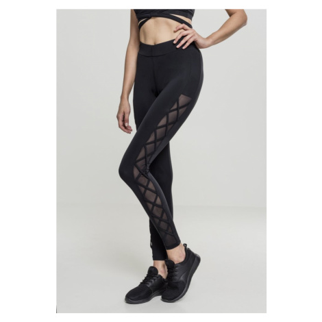 Legíny Urban Classics Ladies Ribbon Mesh Leggings