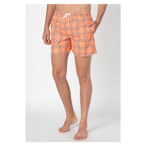 Guess GUESS pánské oranžové plavky s monogramy WOVEN MEDIUM