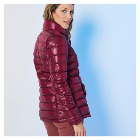 Blancheporte Lehká prošívaná bunda, krátká bordó