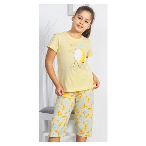 Dětské pyžamo kapri Citron, žlutá Vienetta Secret