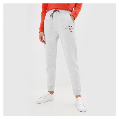 Tommy Jeans dámské šedé tepláky Tommy Hilfiger