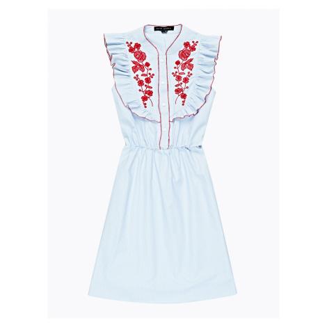 GATE Proužkované šaty s výšivkou