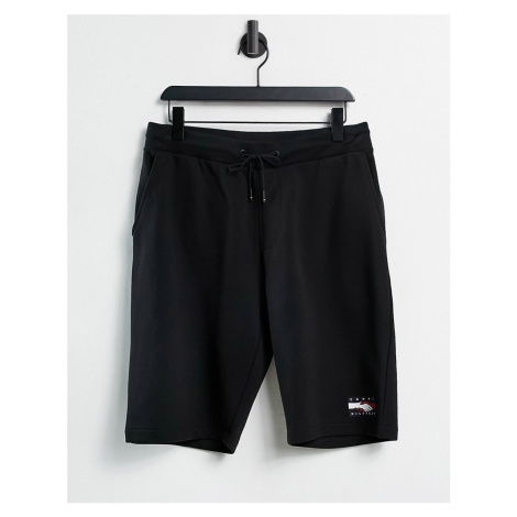 Tommy Hilfiger One Planet capsule unisex front print sweats shorts in black
