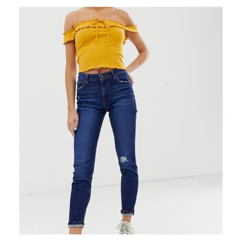 Bershka skinny jeans in navy-Blue