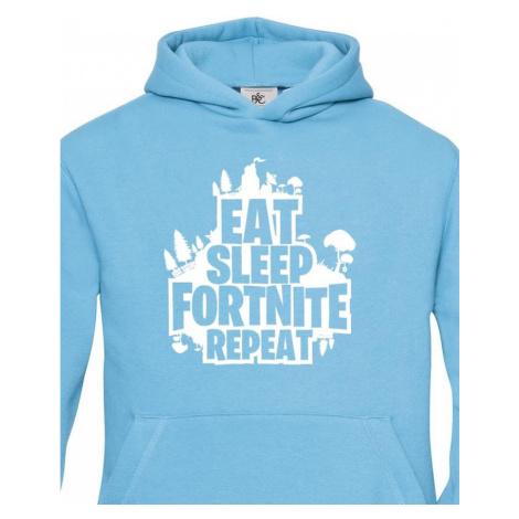 Dětská mikina s potiskem  Eat Sleep Fortnite Repeat BezvaTriko