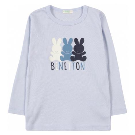 UNITED COLORS OF BENETTON Tričko kouřově modrá / námořnická modř / bílá