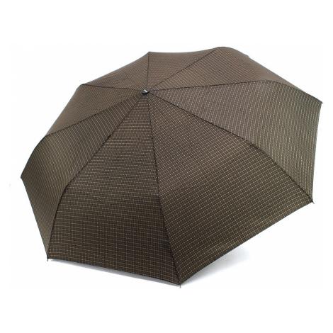 Hnědočerný mechanický skládací pánský deštník Therron Doppler