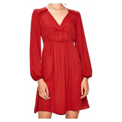 Tmavě červené šaty LIU JO