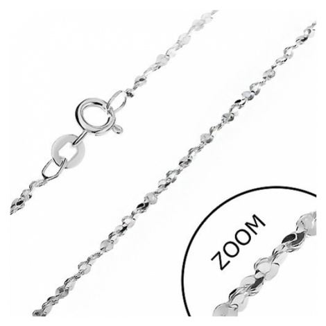 Řetízek ze stříbra 925 - vlnité články ve spirále, 1,6 mm Šperky eshop