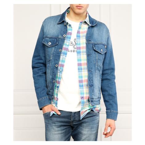 Pepe Jeans pánská džínová modrá bunda Pinner