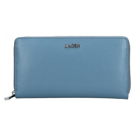 Dámská kožená peněženka Lagen Dita - modrá