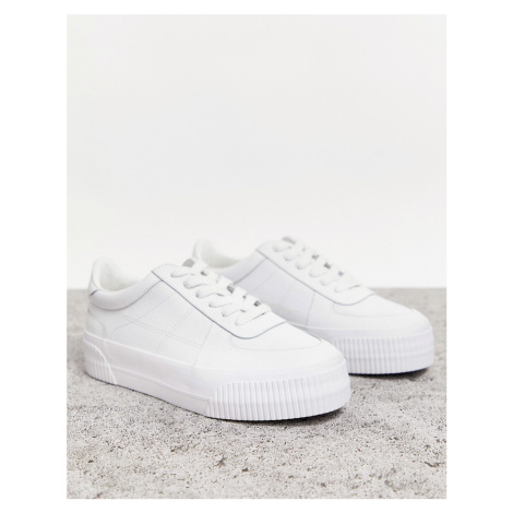 ASOS DESIGN Depart leather chunky trainers in white