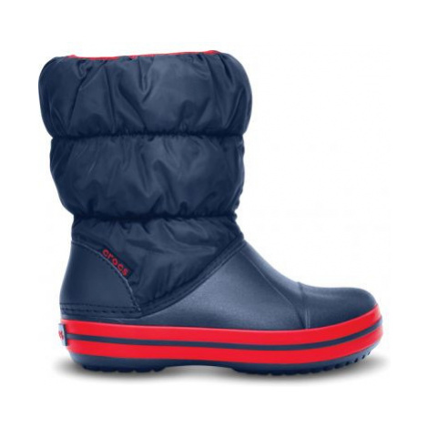 sněhule Crocs Winter Puff boot - navy/red