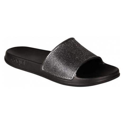COQUI TORA Dámské pantofle 7082-567 Black / Silver glitter