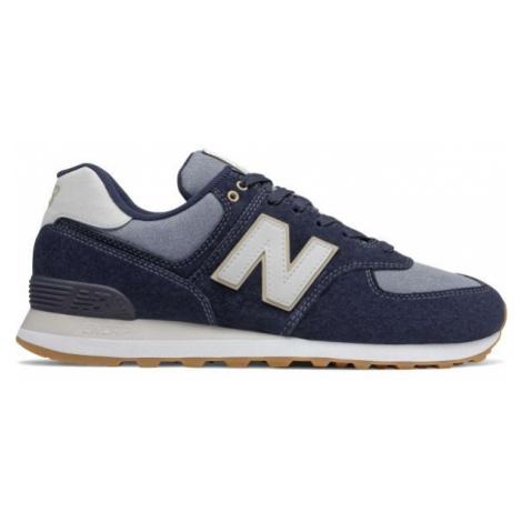 New Balance ML574SNJ tmavě modrá - Pánská vycházková obuv