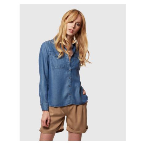 Košile La Martina Woman Shirt Long Sleeves Light - Modrá