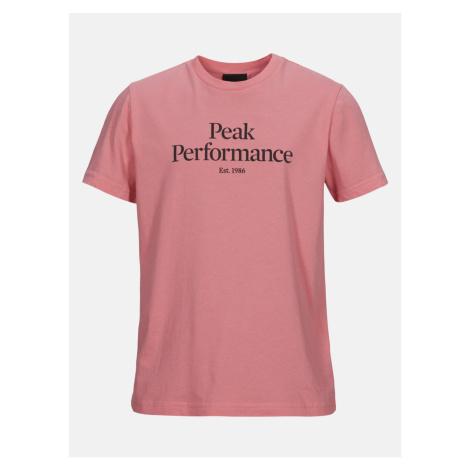 Tričko Peak Performance Jr Original Tee - Růžová