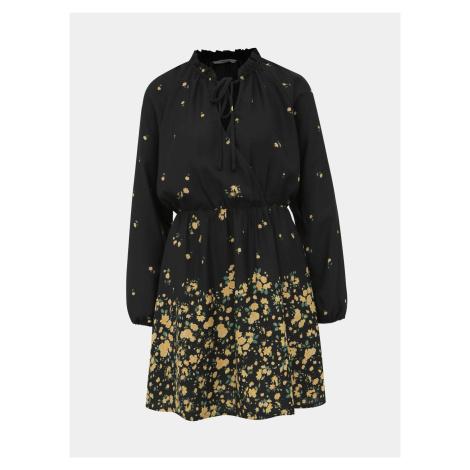 Černé květované šaty ONLY Lana