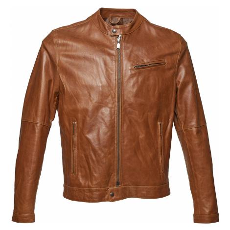 Pánská kožená bunda se stylovým prošitím Baťa