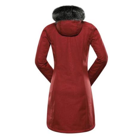 Priscilla 5 ins. Červená dámský softshellový kabát ALPINE PRO