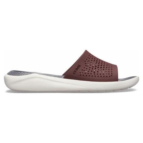 Crocs LiteRide Slide Burgundy/White