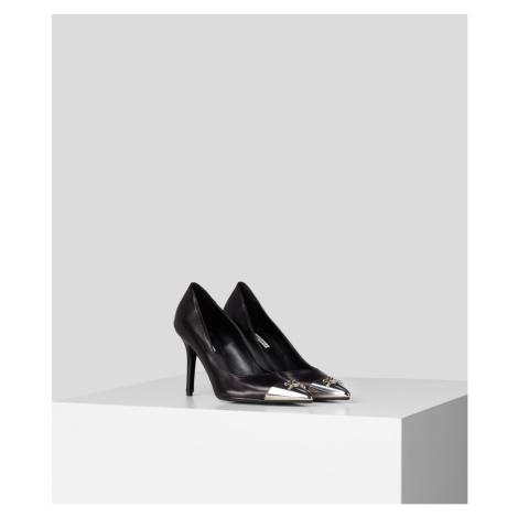 Lodičky Karl Lagerfeld Manoir Hi Signia Tip Court Shoe - Černá