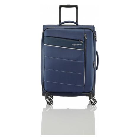 Travelite Cestovní kufr Kite 4w M Navy 89948-20 67/77 l