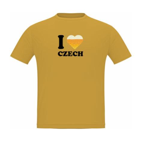 Pánské tričko Classic Heavy I love czech beer