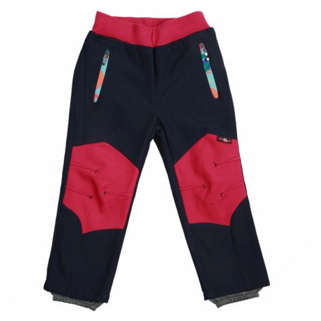 Dívčí softshellové kalhoty, zateplené - Wolf B2091, tmavě modrá