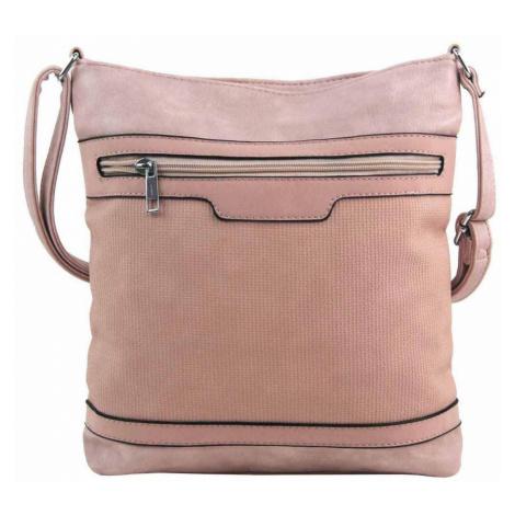 Růžová crossbody dámská kabelka FB1913 Rosy bag
