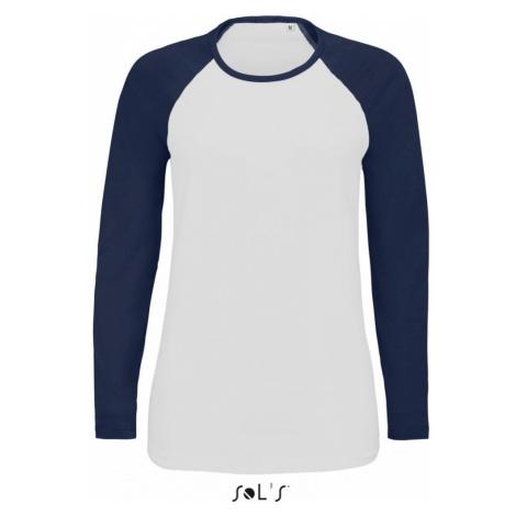 Dámské raglánové tričko FLSL dlouhé - Námořní modř