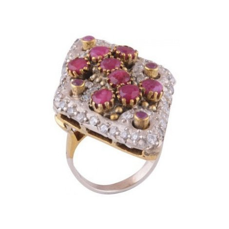 AutorskeSperky.com - Stříbrný prsten s rubíny - S374