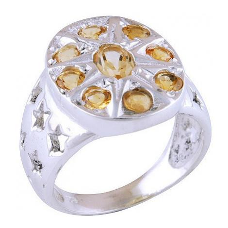 AutorskeSperky.com - Stříbrný prsten s citríny -  S599