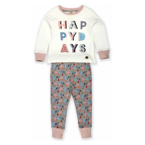 Dětské pyžamo Happy Days organic cotton Starorůžová šedá barva