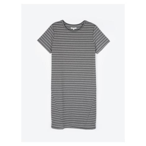 GATE Proužkované šaty tričkového střihu