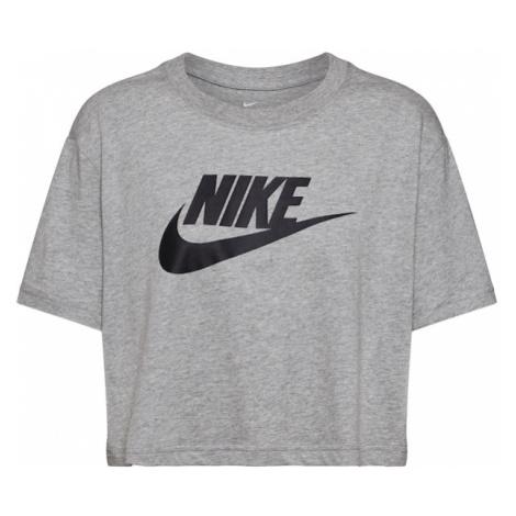 Nike Sportswear Tričko černá / šedá