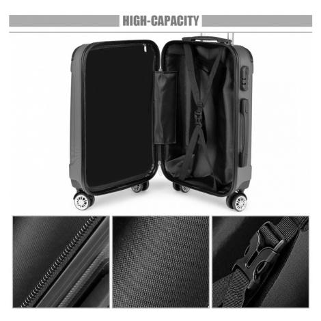 Šedý cestovní kvalitní prostorný set kufrů 3v1 Amol Lulu Bags