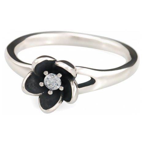 Linda's Jewelry Stříbrný prsten Flower double IPR012 Velikost: 54