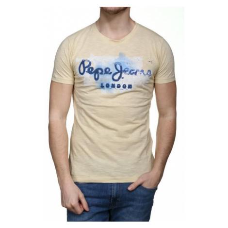 Pepe Jeans pánské žluté tričko
